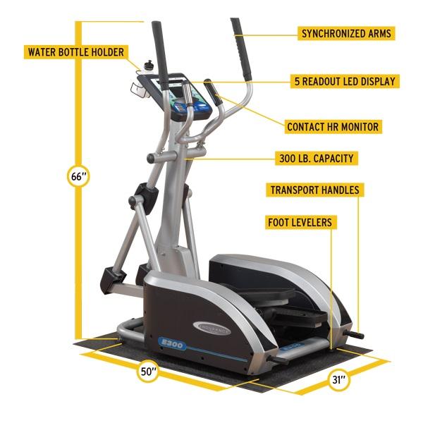 Body Solid E300 elliptical trainer