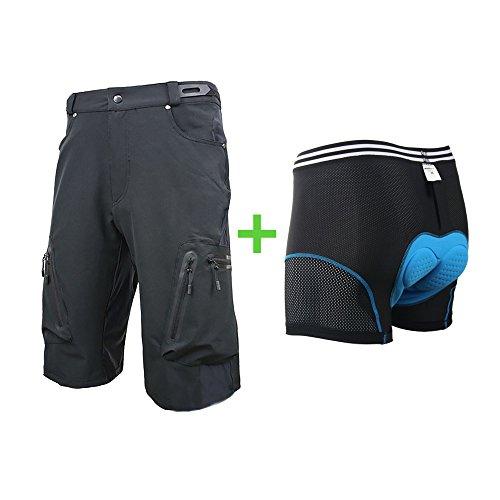 ee2c95794 Przewalski Men s Plus Size MTB Mountain Bike Cycling Shorts w Padded  Underwear