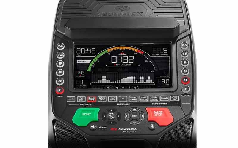 Bowflex BXE326 Elliptical monitor
