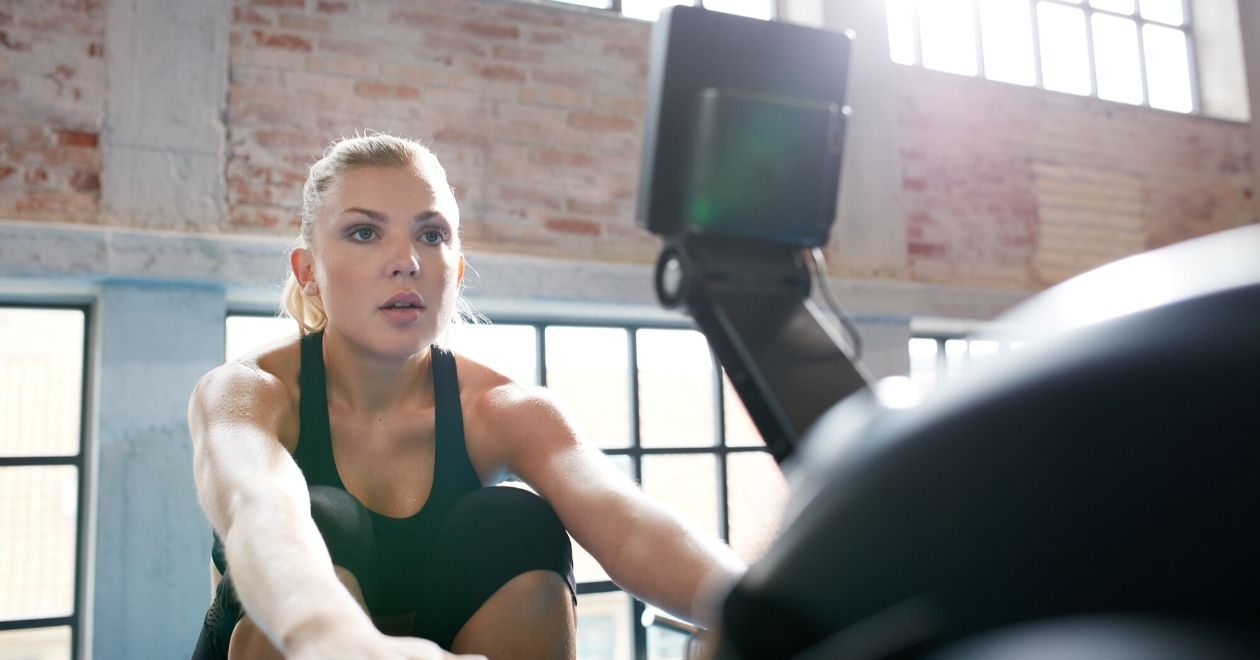 Don't hunch during exercise