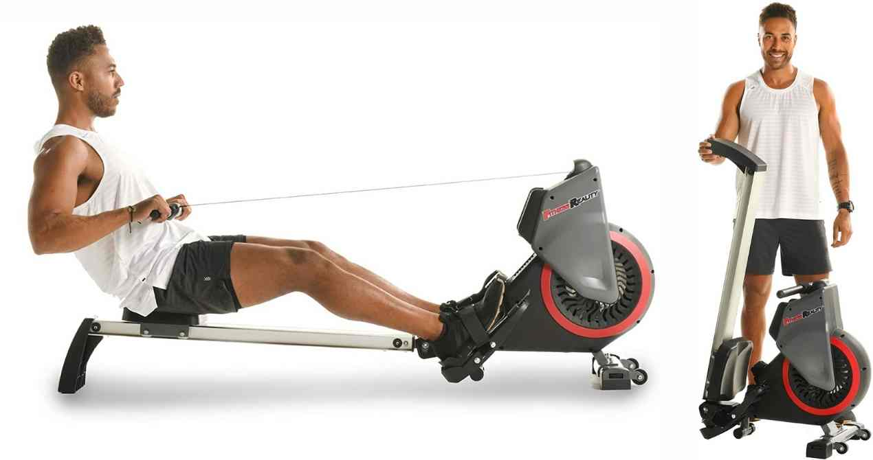 Fitness-Reality-Dual-Transmission-Fan-Rower