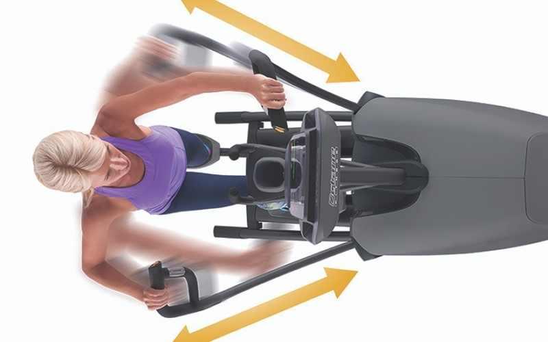 Octane-XT3700-standing-elliptical-workout