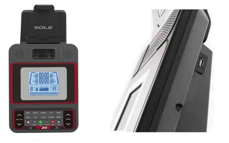 Sole Fitness E25 USB port