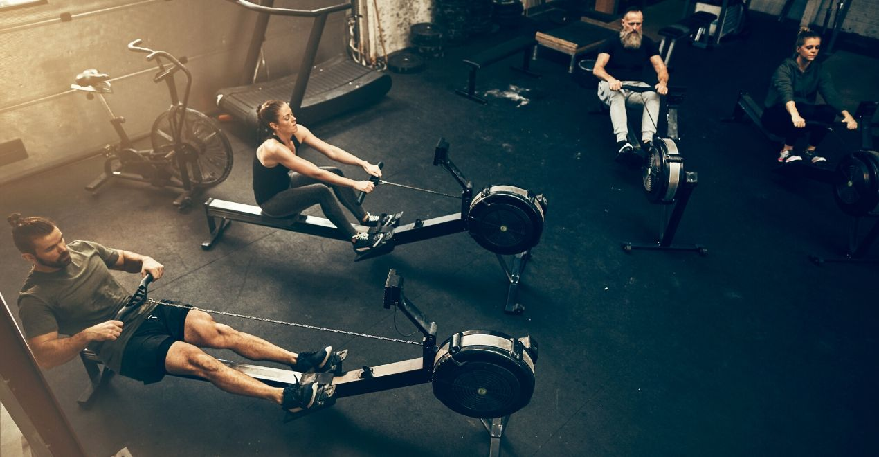 do full body workout with rower, not just arm